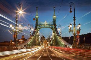 Fóth Miklós: A Szabadság híd este